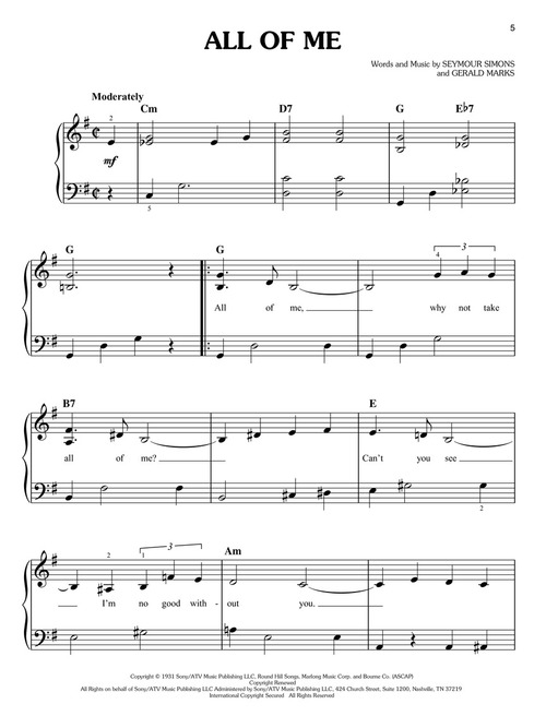 Très First 50 Jazz Standards You Should Play on Piano (Easy Piano  JY27